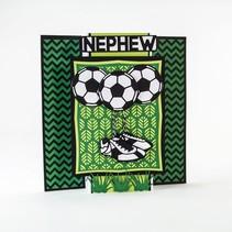 Troquelado y estampado en relieve plantilla: Fútbol