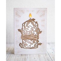 Cutting and embossing / template: nostalgishe candle