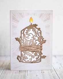 TONIC Cutting and embossing / template: nostalgishe candle