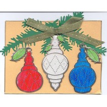 Starform Sticker, Weihnachtskugel