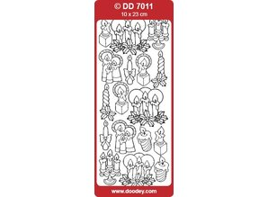 Sticker Klistermærker, stearinlys
