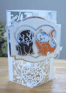 TONIC Punching and embossing template: Best pleasures, dog and cat in heart