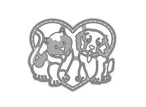 TONIC Stansning og prægning skabelon: Bedste fornøjelser, hund og kat i hjertet