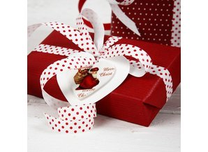Embellishments / Verzierungen Wood etiquette, 6 different Christmas themes