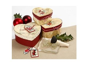 Embellishments / Verzierungen 3 Gavemærkater, nostalgiske Santas