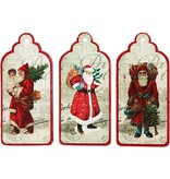 Embellishments / Verzierungen 3 etiquetas del regalo, Santas nostálgicos