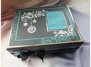 STEMPEL / STAMP: GUMMI / RUBBER Rubber stamp, Indigo, Christmas balls