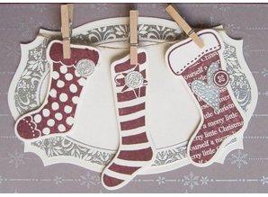 Spellbinders und Rayher Stempling og Embossing stencil, julemotiver