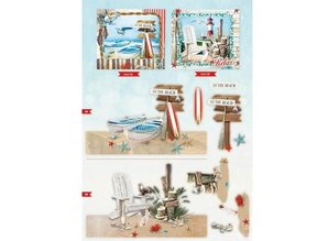 Bücher und CD / Magazines A4 map book, Summer At The Beach nr.02