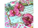 Heartfelt Creations aus USA NEU: Botanic Orchid : Stempel + passende Stanzschablone
