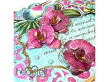 Heartfelt Creations aus USA NEW: Botanic Orchid: Stamp + matching punching jig