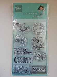 Stempel / Stamp: Transparent Transparent stamps, text: Christmas wishes
