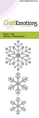 Crealies und CraftEmotions Punching and embossing template: snow crystals 5 x 10 cm