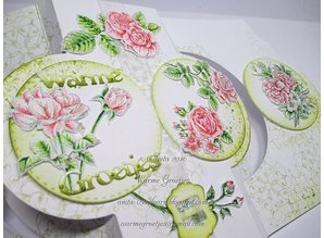 Wild Rose Studio`s A6 Transparent stamps, roses