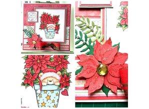 Wild Rose Studio`s A7, sellos transparentes, peluche de la Navidad