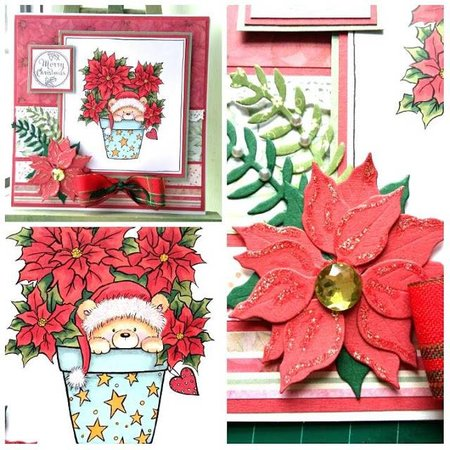 Wild Rose Studio`s A7, Transparent stamps, Christmas Teddy