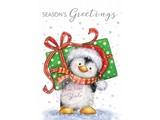 Wild Rose Studio`s A7 Transparent Stempel, 1 niedliche Pinguine mit Geschenk