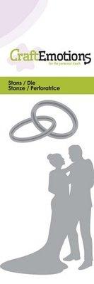 Crealies und CraftEmotions Stansning og prægning skabelon: Bryllup par