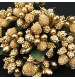 BLUMEN (MINI) UND ACCESOIRES Mini Blumchen, guld, vintage look