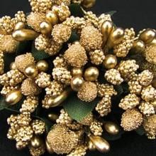 BLUMEN (MINI) UND ACCESOIRES Mini Blumchen, gold, Vintage Look