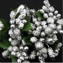 Mini Blumchen, silver, vintage look
