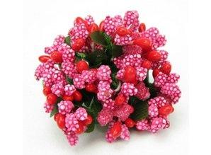 BLUMEN (MINI) UND ACCESOIRES Mini Blumchen, red, vintage