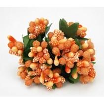 Mini Blumchen, delikat orange, vintage look