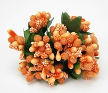 BLUMEN (MINI) UND ACCESOIRES Mini Blumchen, delicate orange, vintage look