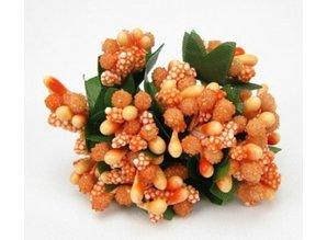 BLUMEN (MINI) UND ACCESOIRES Mini Blumchen, delikat orange, vintage look