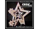 Crealies und CraftEmotions Stanz- und Prägeschablone: Multischablone Sterne