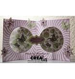 Crealies und CraftEmotions Stansning og prægning skabelon: Kartengestaltung