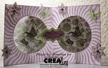 Crealies und CraftEmotions Stanz- und Prägeschablone: für Kartengestaltung