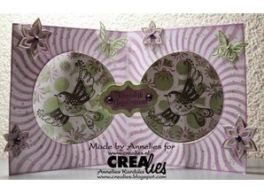 Crealies und CraftEmotions Stanz- und Prägeschablone: Kartengestaltung