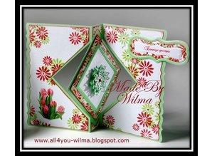 Crealies und CraftEmotions Troquelado y estampado en relieve plantilla: para el diseño de tarjetas