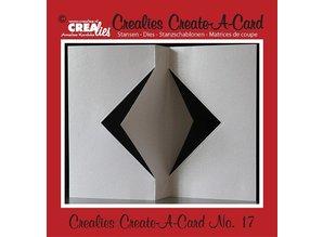 Crealies und CraftEmotions Stansning og prægning skabelon: for kort design