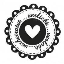holze Mini Stempel + 12 Etiketten im Herzform