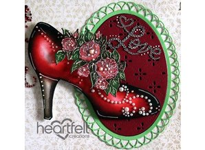 "Heartfelt Creations aus USA new in the range, ""All glammed up Shoe"""