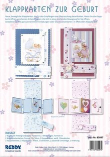 BASTELSETS / CRAFT KITS: Klappkarten Set Geburt
