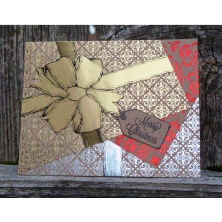 DCWV und Sugar Plum DCWV Designersblock, 24 hojas de 15,2 x 15,2 cm decoradas con papel de aluminio.
