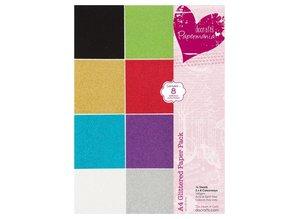 DESIGNER BLÖCKE  / DESIGNER PAPER A4-papir pad Glitter