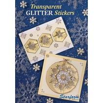 A5 Arbeitsbuch: Transparente Glitter Sticker