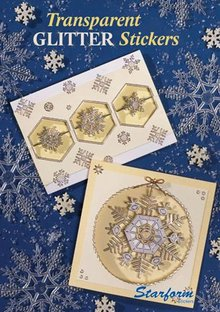 Bücher und CD / Magazines Cuaderno A5: Stickers Glitter transparente