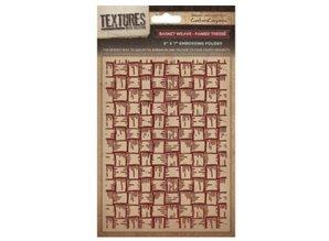 embossing Präge Folder Prägefolder Textures, Basket Weave