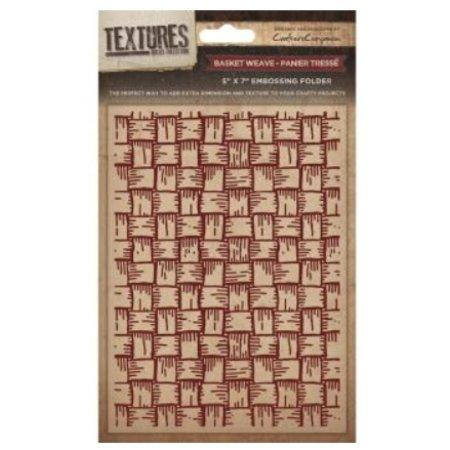 embossing Präge Folder Prægning mapper Textures, Basket Weave