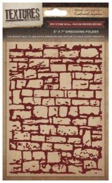 embossing Präge Folder Prägefolder Textures, Mauer Motiv