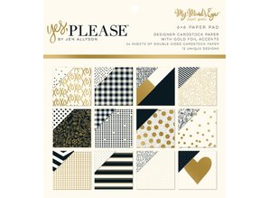 "DCWV und Sugar Plum Designer Block, ""Yes Please"""