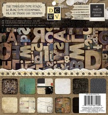 "DCWV und Sugar Plum Designer Block, ""The Timeless Type"""