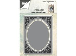 Joy!Crafts und JM Creation Punching and embossing templates: vintage frame, ovals
