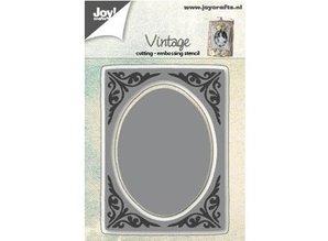 Joy!Crafts und JM Creation Stansning og prægning skabeloner: vintage ramme, ovaler