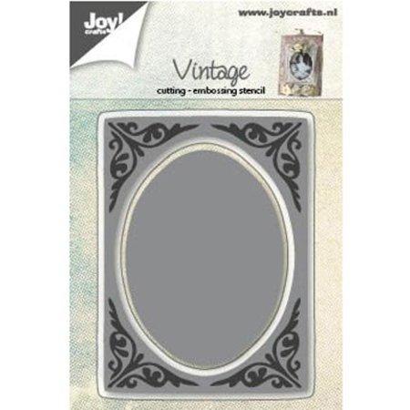 Joy!Crafts und JM Creation Stanz- und Prägeschablonen: vintage Rahmen, Ovale